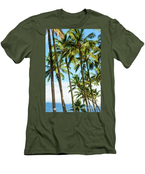 Men's T-Shirt (Slim Fit) featuring the photograph Beautiful Palms Of Maui 16 by Micah May