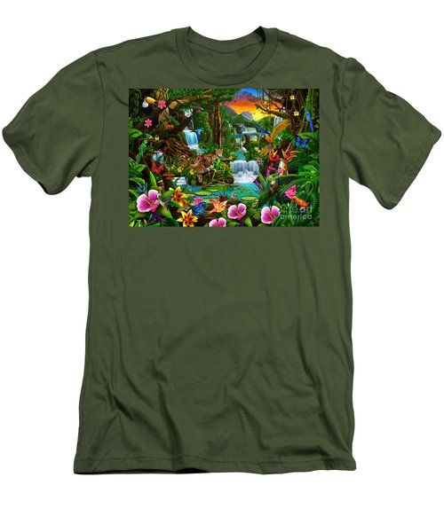 Beautiful Rainforest Men's T-Shirt (Athletic Fit)