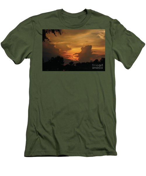 Men's T-Shirt (Athletic Fit) featuring the photograph Beautiful Sunset by Debra Crank