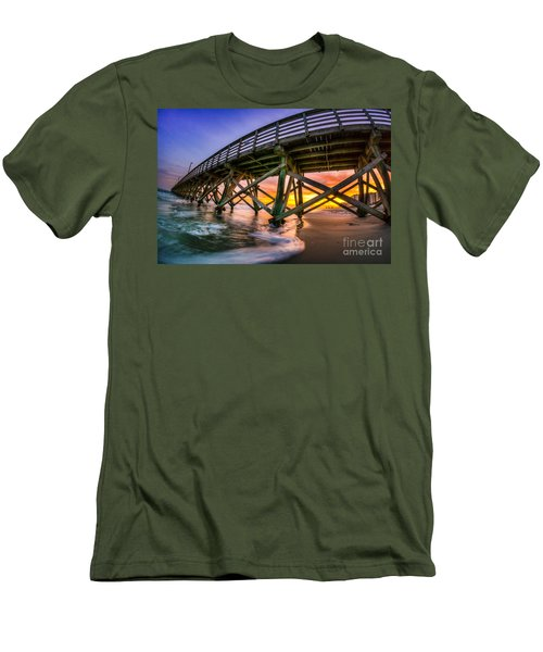 Beautiful Sunset In Myrtle Beach Men's T-Shirt (Slim Fit) by David Smith