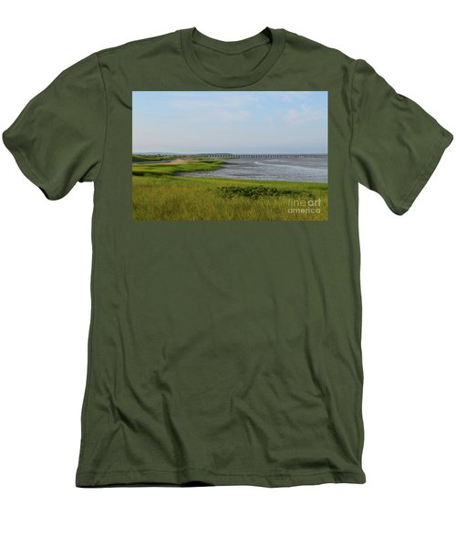 Beautiful Views Of Powder Point Bridge And Duxbury Bay Men's T-Shirt (Athletic Fit)