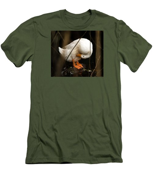 Men's T-Shirt (Slim Fit) featuring the photograph Beauty In Motion by E Faithe Lester
