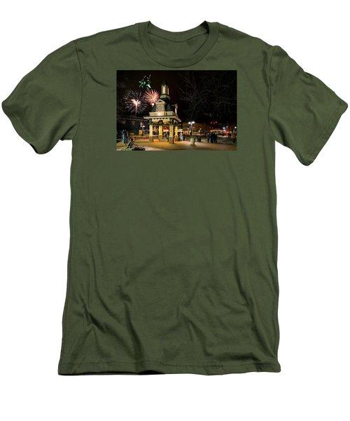 Beaver Light Up Night  Men's T-Shirt (Athletic Fit)