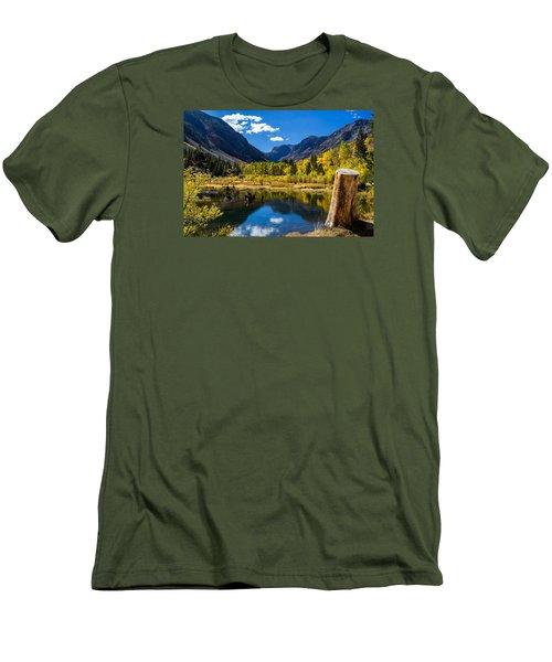 Beaver Pond Men's T-Shirt (Slim Fit) by Tassanee Angiolillo