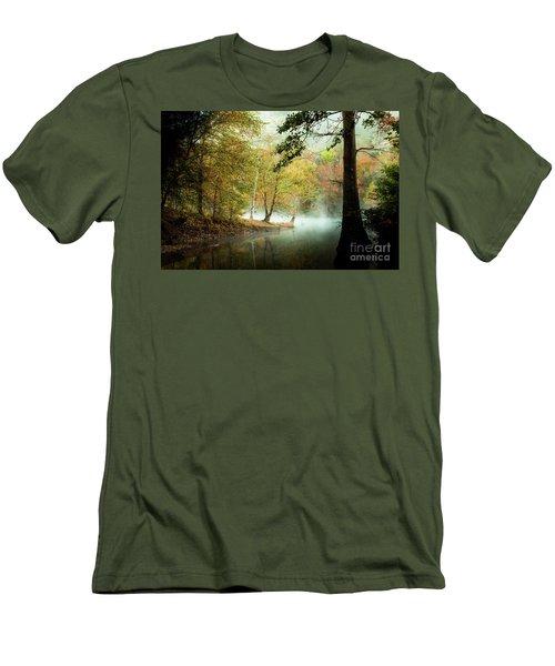 Beavers Bend Creek In Fall Men's T-Shirt (Slim Fit) by Iris Greenwell