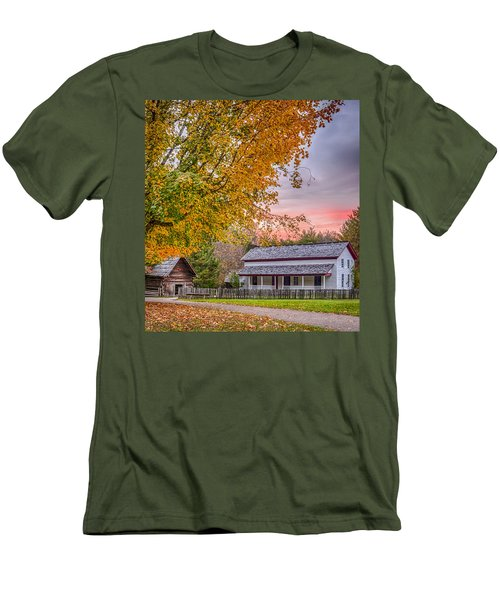 Men's T-Shirt (Slim Fit) featuring the photograph Becky Cabel House by Tyson and Kathy Smith