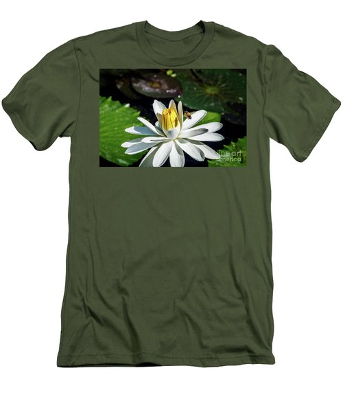 Bee In A Flower Men's T-Shirt (Athletic Fit)