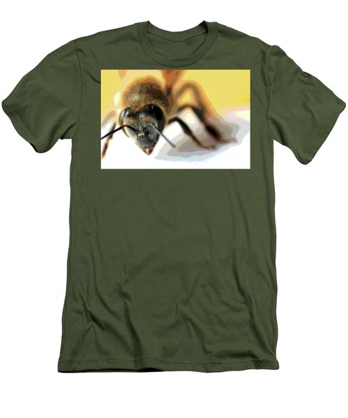 Bee In Macro 5 Men's T-Shirt (Slim Fit) by Micah May