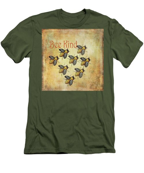 Bee Kind Men's T-Shirt (Slim Fit) by Kandy Hurley