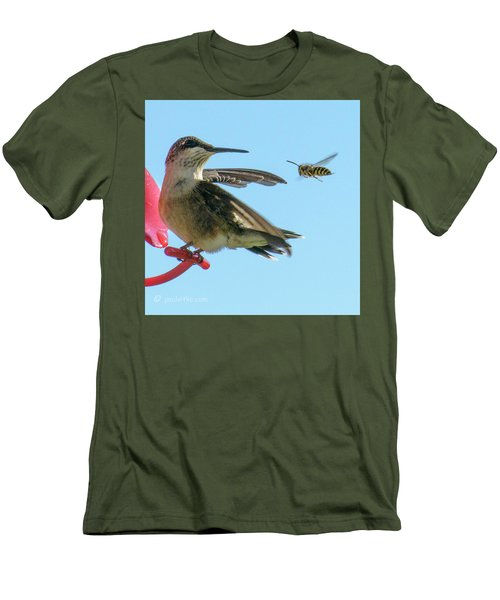 Bee_bird Men's T-Shirt (Athletic Fit)