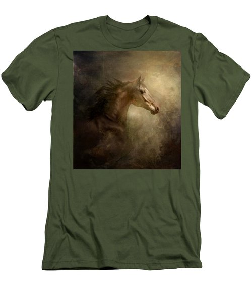 Men's T-Shirt (Slim Fit) featuring the photograph Behind Broken Mirror by Dorota Kudyba