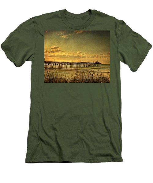 Behind Cherry Grove Pier  Men's T-Shirt (Athletic Fit)
