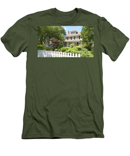 Men's T-Shirt (Athletic Fit) featuring the photograph Behind The Picket Fence by Charles Kraus