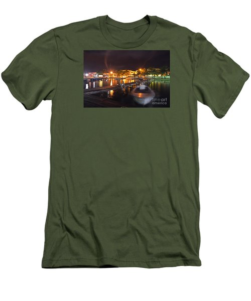 Men's T-Shirt (Slim Fit) featuring the photograph Belizean Night  by Yuri Santin