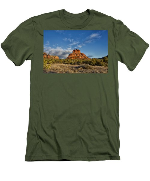 Men's T-Shirt (Slim Fit) featuring the photograph Bell Rock Beams by Tom Kelly