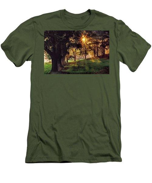 Bernharts Dam Fog 001 Men's T-Shirt (Slim Fit) by Scott McAllister