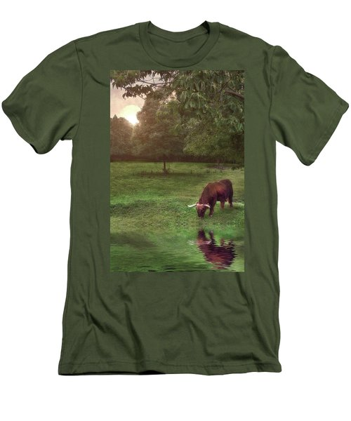 Men's T-Shirt (Slim Fit) featuring the photograph Beside Still Waters by Mark Fuller