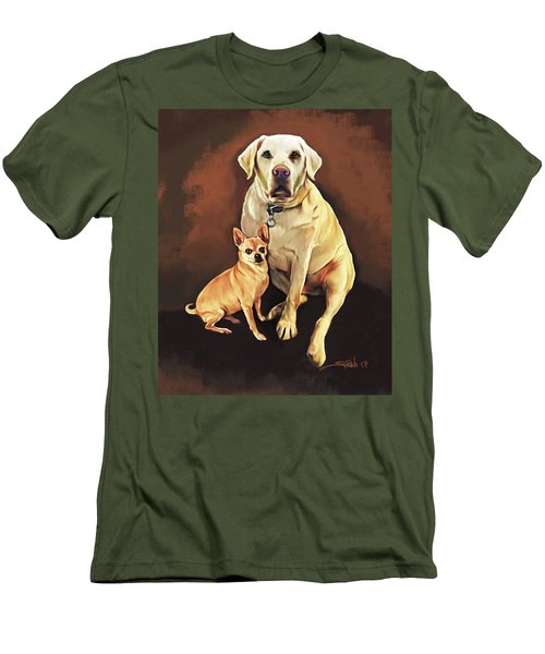 Best Friends By Spano Men's T-Shirt (Slim Fit) by Michael Spano