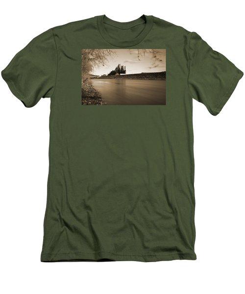 Bethlehem Steel Along The Lehigh Men's T-Shirt (Slim Fit) by Jennifer Ancker