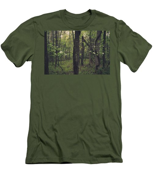 Between The Dogwoods Men's T-Shirt (Slim Fit) by Shane Holsclaw