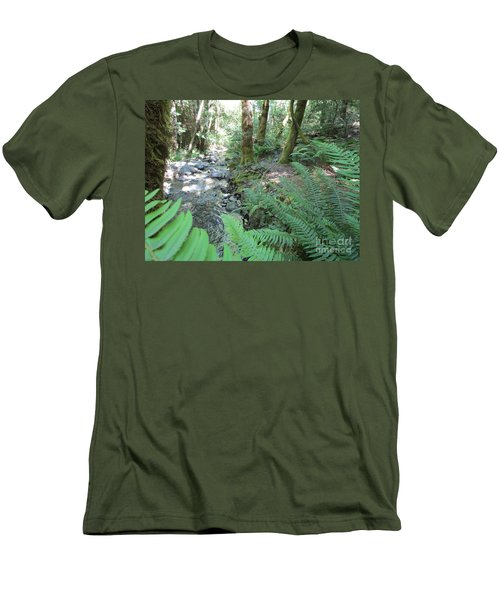 Men's T-Shirt (Athletic Fit) featuring the photograph Beyond The Ferns by Marie Neder