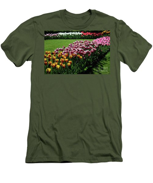 Multicolor Tulips Men's T-Shirt (Athletic Fit)