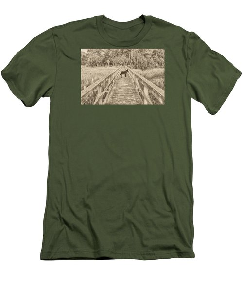 Men's T-Shirt (Slim Fit) featuring the photograph Big Dog by Margaret Palmer