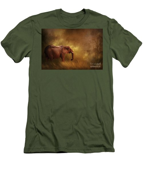 Men's T-Shirt (Slim Fit) featuring the photograph Big Ed by Linda Blair