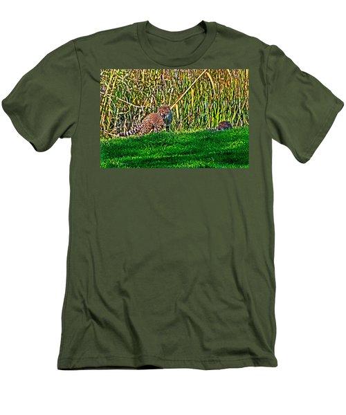 Big Yawn By Little Cub Men's T-Shirt (Athletic Fit)