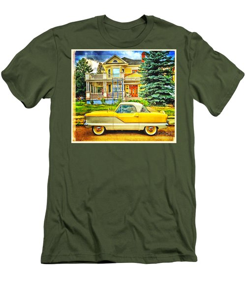 Big Yellow Metropolis Men's T-Shirt (Slim Fit) by Craig J Satterlee