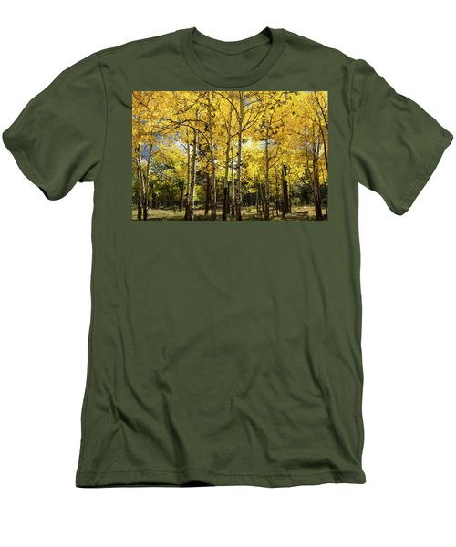 Men's T-Shirt (Athletic Fit) featuring the photograph Birch Tree Grove  by Saija Lehtonen
