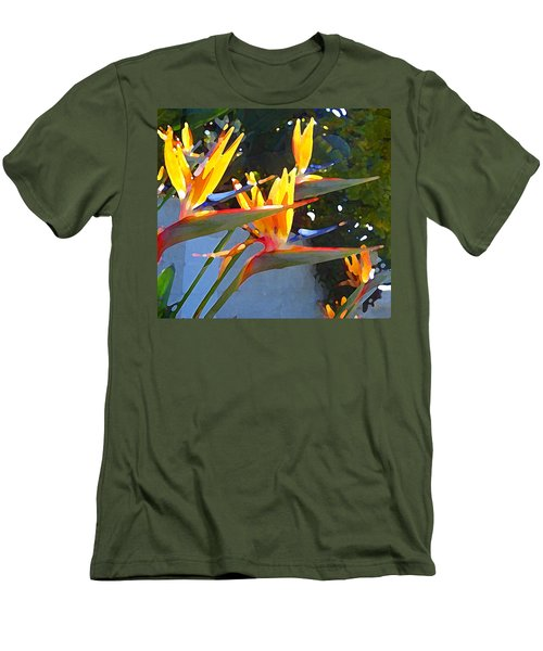 Bird Of Paradise Backlit By Sun Men's T-Shirt (Athletic Fit)