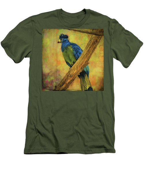 Men's T-Shirt (Athletic Fit) featuring the photograph Bird On A Branch by Lewis Mann