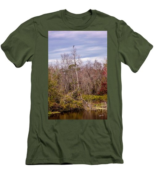 Men's T-Shirt (Slim Fit) featuring the photograph Bird Out On A Limb 3 by Madeline Ellis