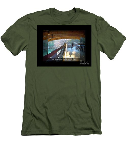 Birds Boaters And Bridges Of Barton Springs - Bridges One Greeting Card Poster V2 Men's T-Shirt (Athletic Fit)
