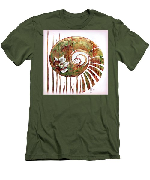 Birth Of Lotus Land Men's T-Shirt (Slim Fit) by Anna Ewa Miarczynska