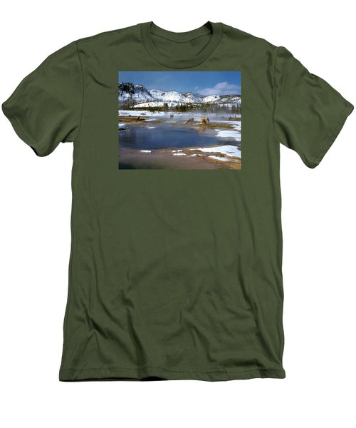 Biscuit Basin Elk Herd Men's T-Shirt (Slim Fit) by Ed  Riche