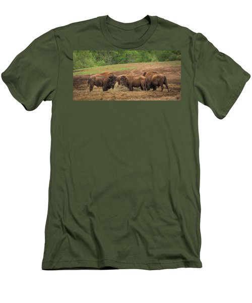 Men's T-Shirt (Athletic Fit) featuring the photograph Bison 2 by Joye Ardyn Durham