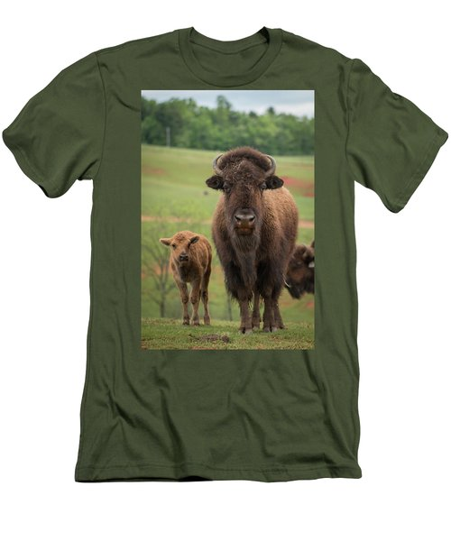 Men's T-Shirt (Athletic Fit) featuring the photograph Bison 4 by Joye Ardyn Durham