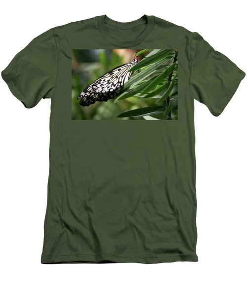 Black And White Butterfly -  Men's T-Shirt (Athletic Fit)