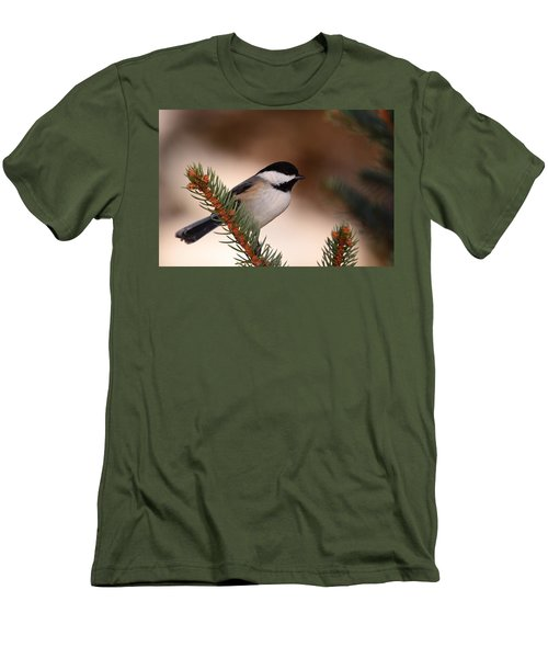 Black-capped Cickadee II Men's T-Shirt (Athletic Fit)
