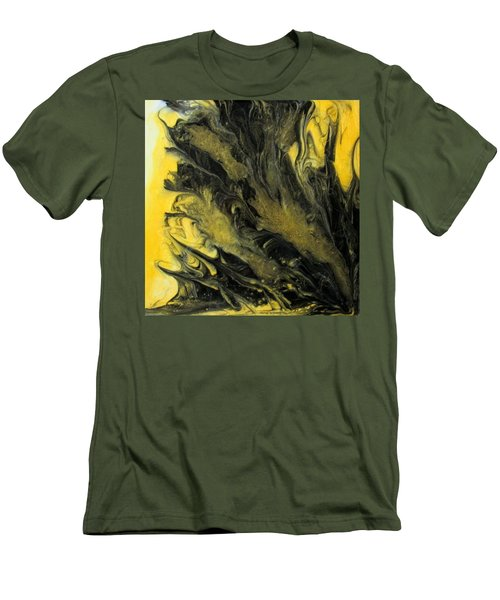 Black Dahlia Men's T-Shirt (Slim Fit) by Mary Kay Holladay