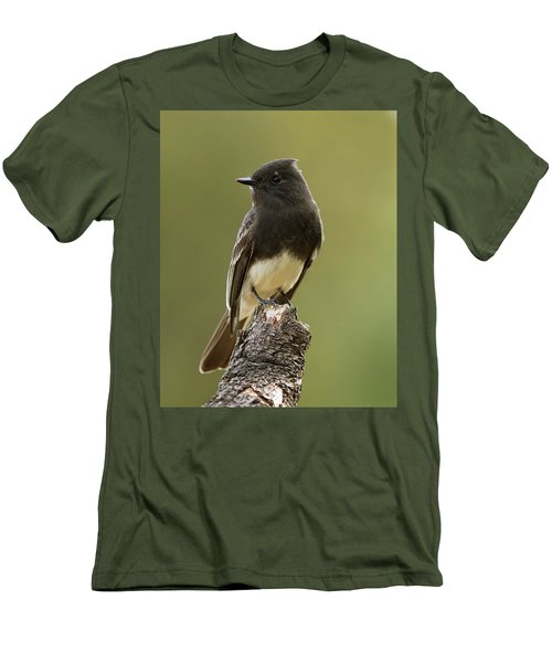 Men's T-Shirt (Slim Fit) featuring the photograph Black Phoebe by Doug Herr