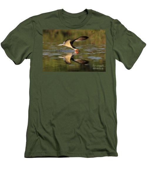 Black Skimmer Fishing Men's T-Shirt (Slim Fit) by Meg Rousher