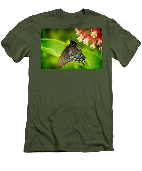 Black Swallowtail #1 Men's T-Shirt (Athletic Fit)