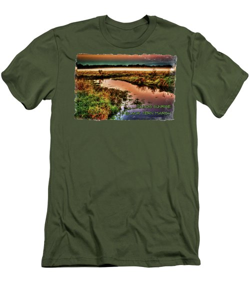 Black Tern Marsh October Sunrise Men's T-Shirt (Athletic Fit)