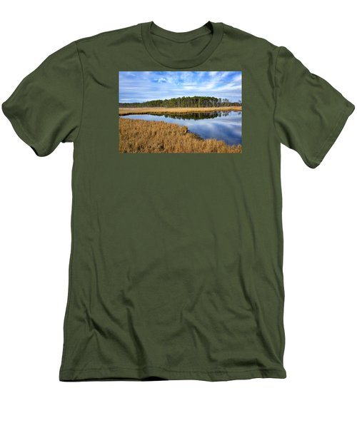 Men's T-Shirt (Slim Fit) featuring the photograph Blackwater National Wildlife Refuge In Maryland by Brendan Reals