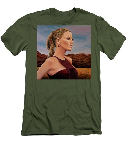 Blake Lively Painting Men's T-Shirt (Slim Fit) by Paul Meijering