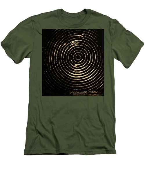 Bleached Circles Men's T-Shirt (Slim Fit) by Cynthia Powell