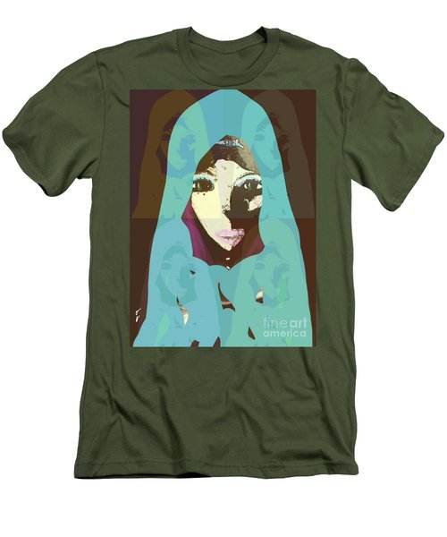Men's T-Shirt (Athletic Fit) featuring the mixed media Blessed 2 by Ann Calvo